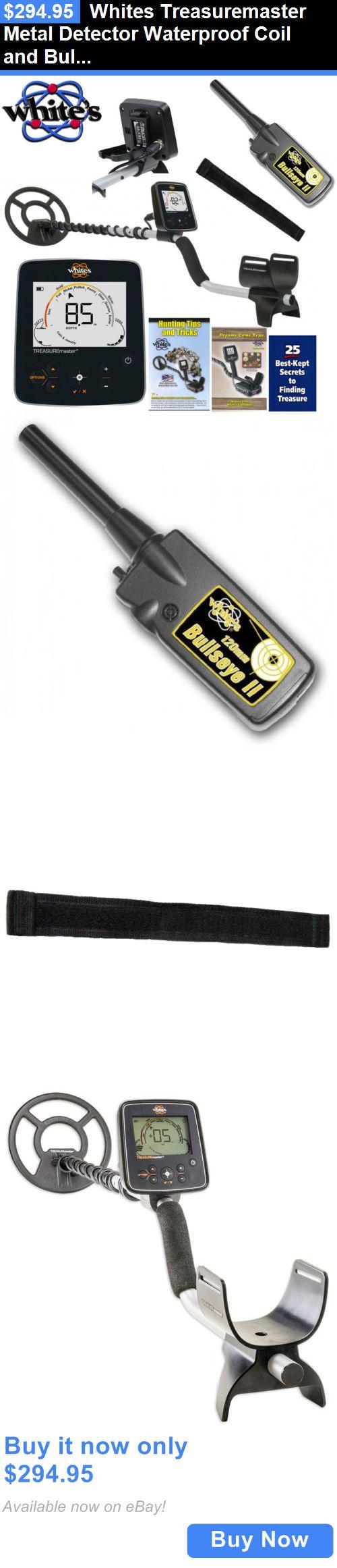 Metal Detectors: Whites Treasuremaster Metal Detector Waterproof Coil And Bullseye Ii Pinpointer BUY IT NOW ONLY: $294.95