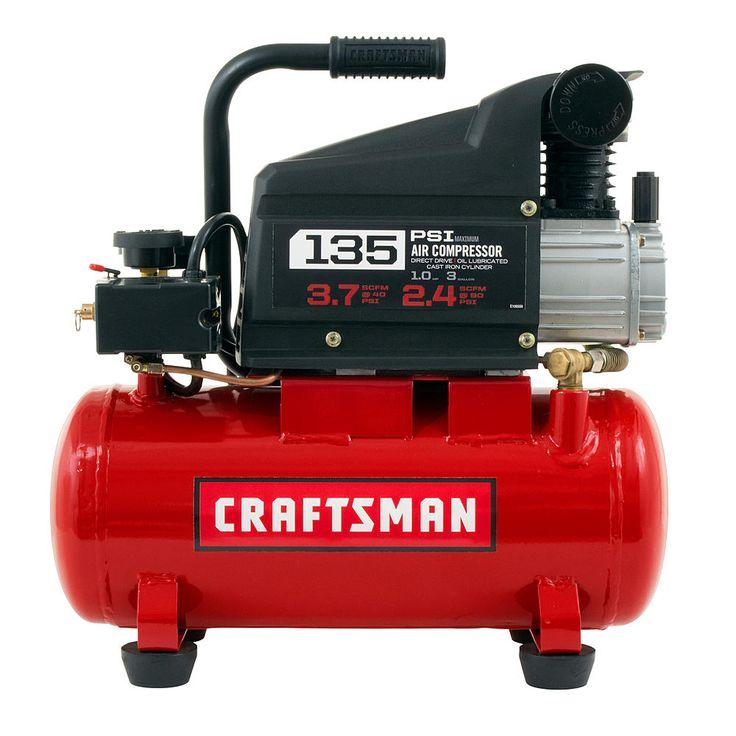 3-Gallon Craftsman Horizontal Air Compressor w/ Hose & Accessory Kit $75 + Free Shipping
