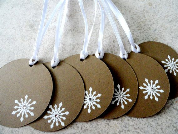 Christmas Tags - Would be cuter done in red or green.