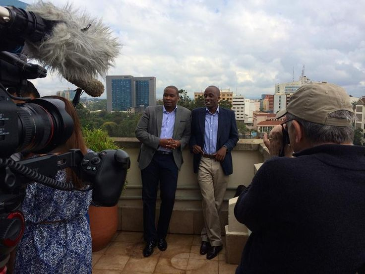 Ivan Mbowa and Munyutu Waigi, founders of Umati Capital, being interviewed for IAT in Nairobi