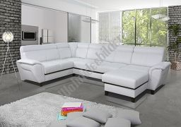 Couchgarnitur Model SCALLA 3 mit Schlaffunktion, Relaxfunktion und 2 Bettkästen, ein echter HINGUCKER! Die Lieferzeit beträgt in diversen von uns angebotenen Stoffen und Farben 3-4 Wochen.