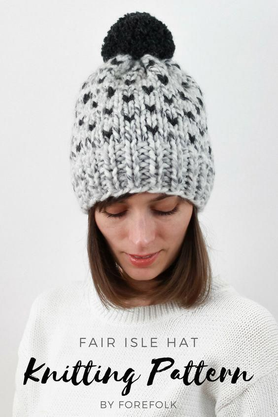 966751456782 Fair Isle Hat Knitting Pattern