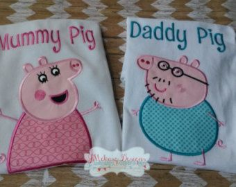 adult+peppa+pig+shirt | Peppa Pig Family Birthday Custom Te e Shirt - Customizable - Infant to ...