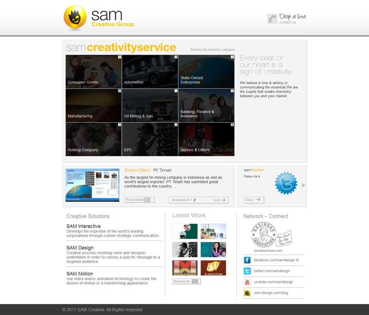 SAM is an integrated corporate communication.