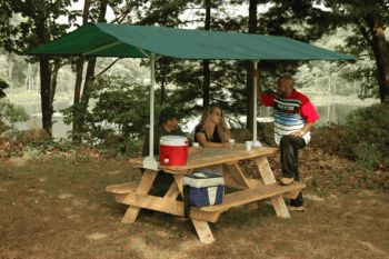 quick clamp canopy - for those times that the sun follows you no matter where you put your table