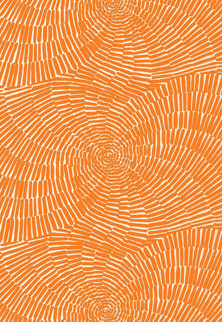 Schumacher Sonriza Print In Orange 174241 By Trina Turk (outdoor Fabric)