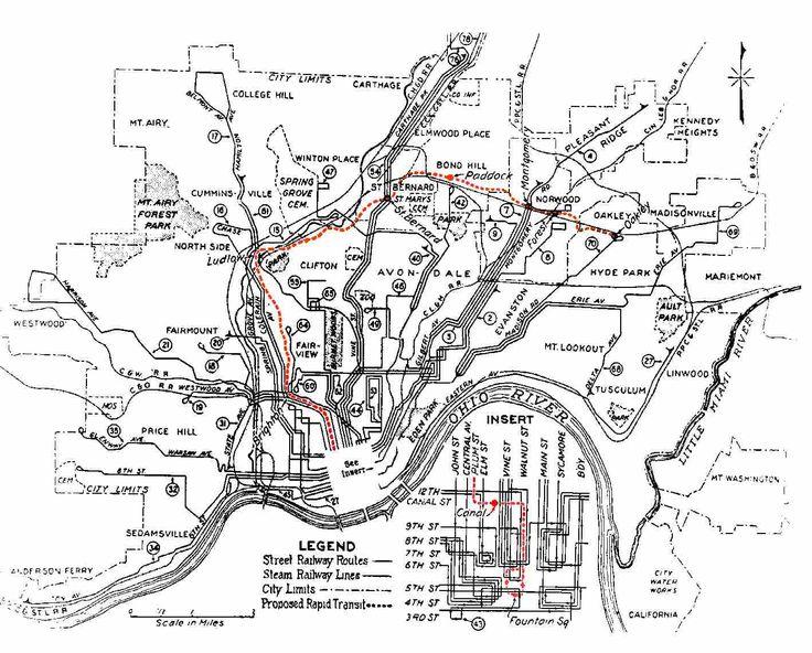 Map of Cincinnati's Subway
