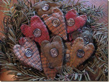 Homemade Christmas Ornaments | Simply Prim: A Few Homemade Christmas Decorations