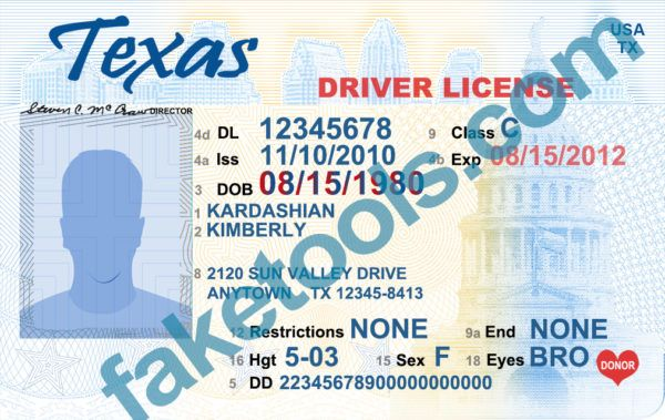 Texas Driver License Psd Template In 2019 Texas Driving License