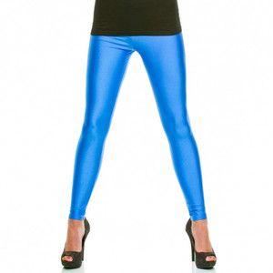 Leggings Shiny Blau