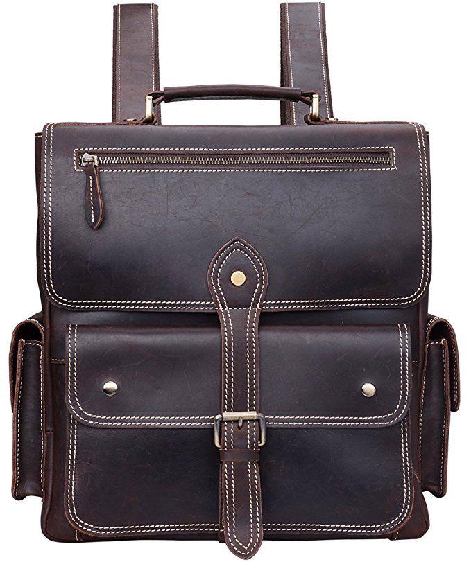 6ff6bc7ed7e1  Affiliate  ALTOSY Crazy Horse Leather Backpack Vintage Travel Leather Tote  Shoulder Laptop Bag (YD8057
