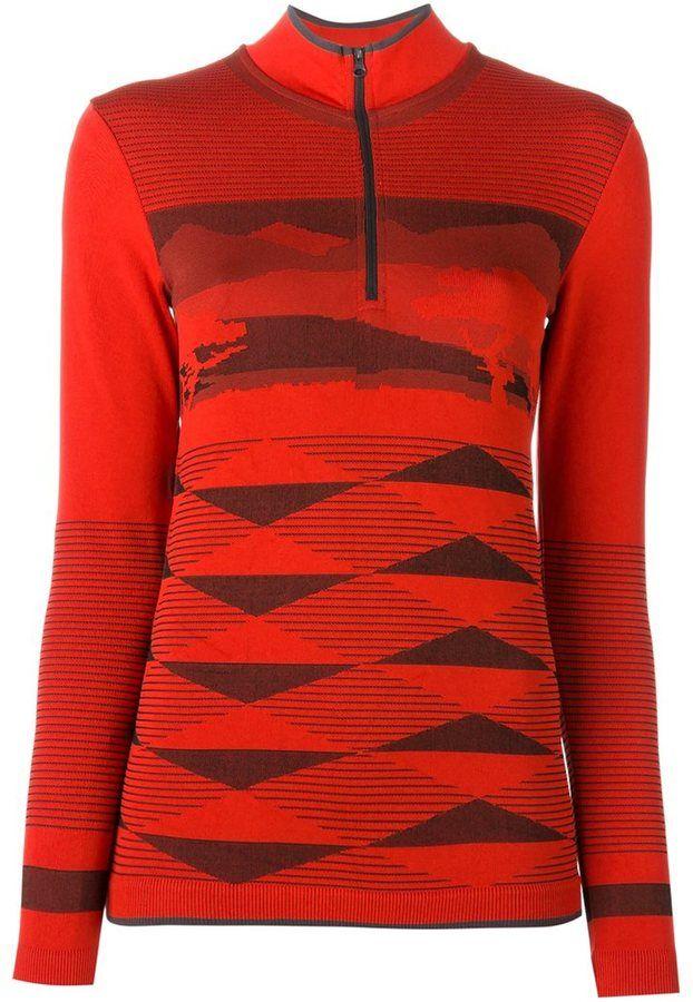 Adidas By Stella Mccartney zipped collar sweatshirt