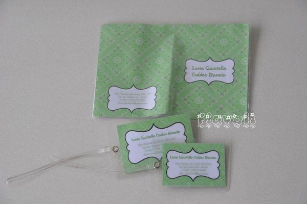 Kit viagem Bandana verde  :: flavoli.net - Papelaria Personalizada :: Contato: (21) 98-836-0113 vendas@flavoli.net