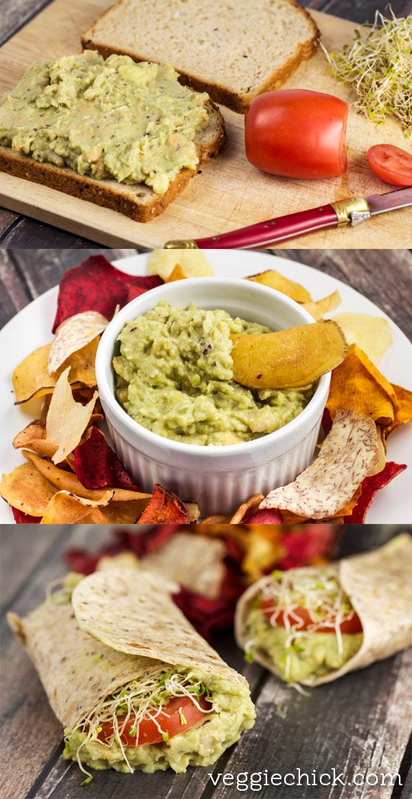 Smashed White Bean & Avocado Sandwich Filling and Dip via veggiechick.com #vegan #vegetarian #cleaneating