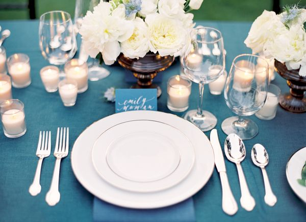 candle place setting