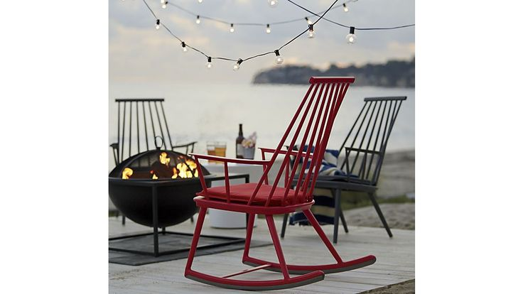 Front Porch  Union Red Rocking Chair with Sunbrella ® Cushion