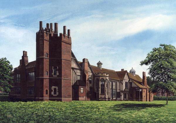 "003CV054 - Gainsborough Old Hall circa 1890  16"" x 12"" Print Only £12.99 9.5"" x 6.5"" Mounted to 14"" x 11"" - £12.99"