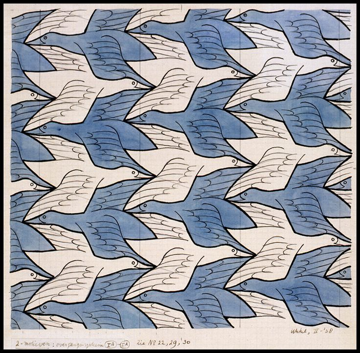 tessellation escher birds - Google Search