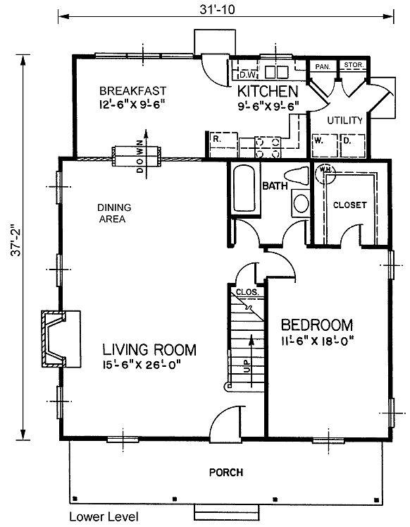План Загородного Дома Уровень 45461 Один