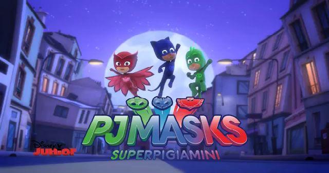 PJ Masks Super Pigiamini - Sigla. Canta anche tu la fantastica sigla di PJ Masks Super Pigiamini. Tre amici che di notte diventano supereroi...