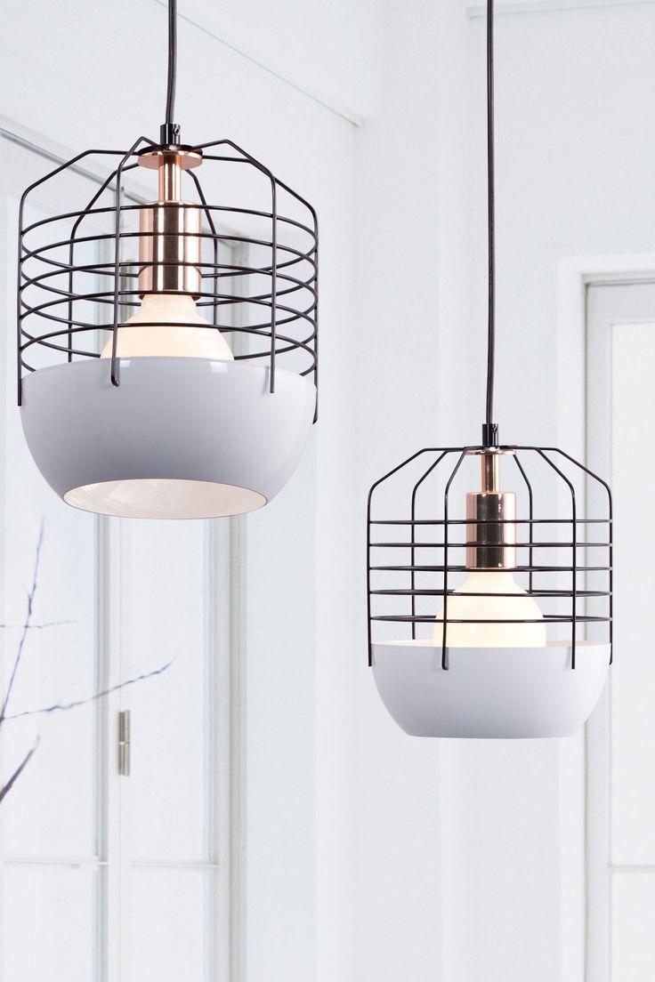 Mod white cage lamp (home, decor, lighting, lamp)