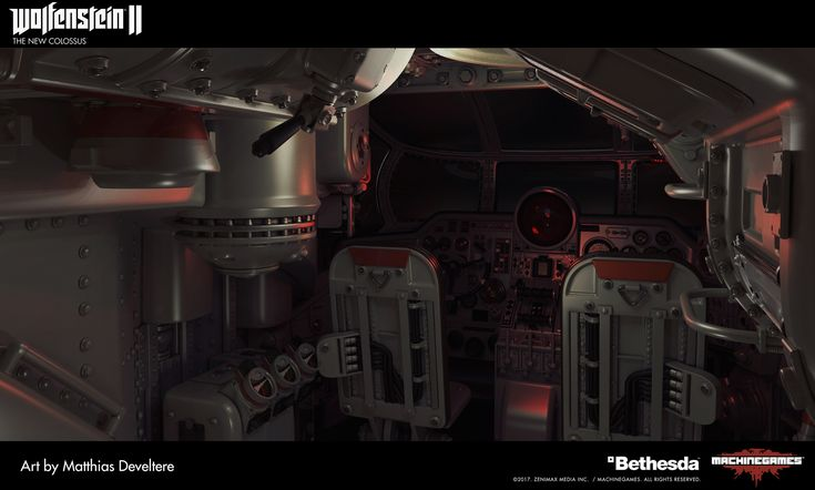 ArtStation - Wolfenstein 2 : SilverFish Interior, Matthias Develtere