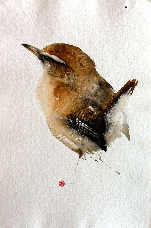 Artist Uses Calligraphy Brushes to Create Breathtaking Watercolor Paintings of Birds - My Modern Met
