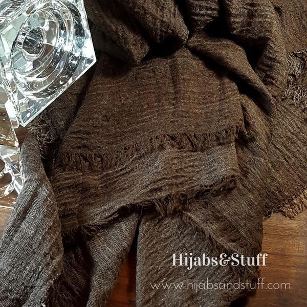 Rippled Hijab - Chocolate #11