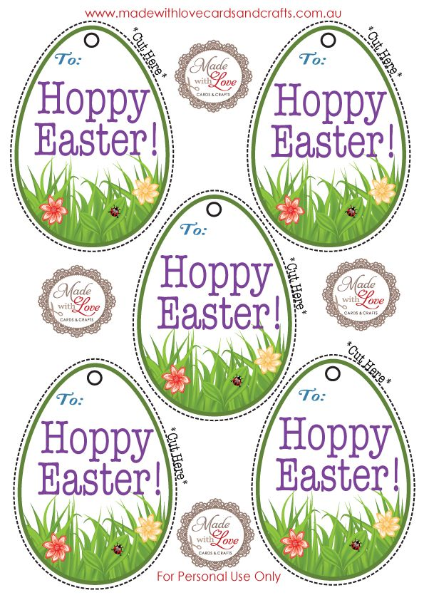 FREE EASTER GIFT TAG PRINTABLE PDF 6 tags to a sheet simply download and print onto white cardstock.