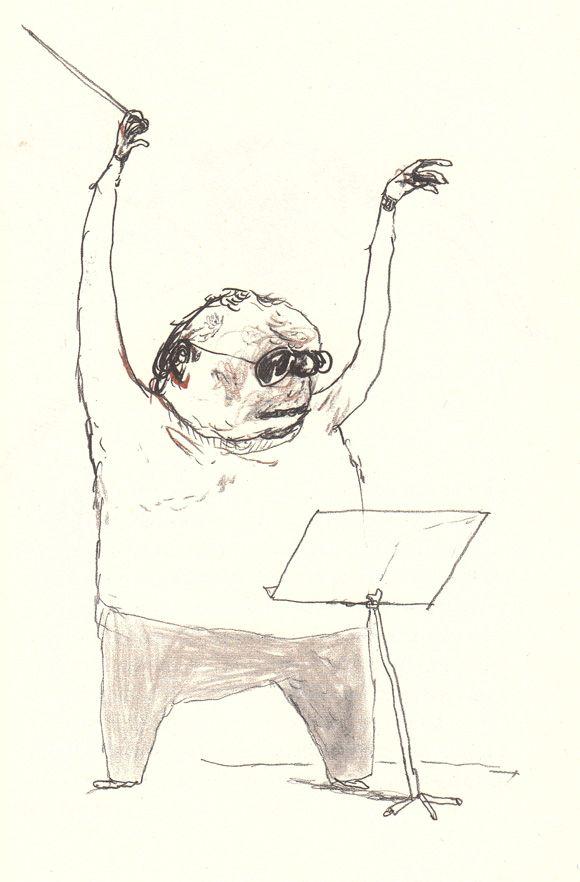 Ilustración de Per Dybvig para la obra El doctor Proctor y los polvos tirapedos, de Jo Nesbo.
