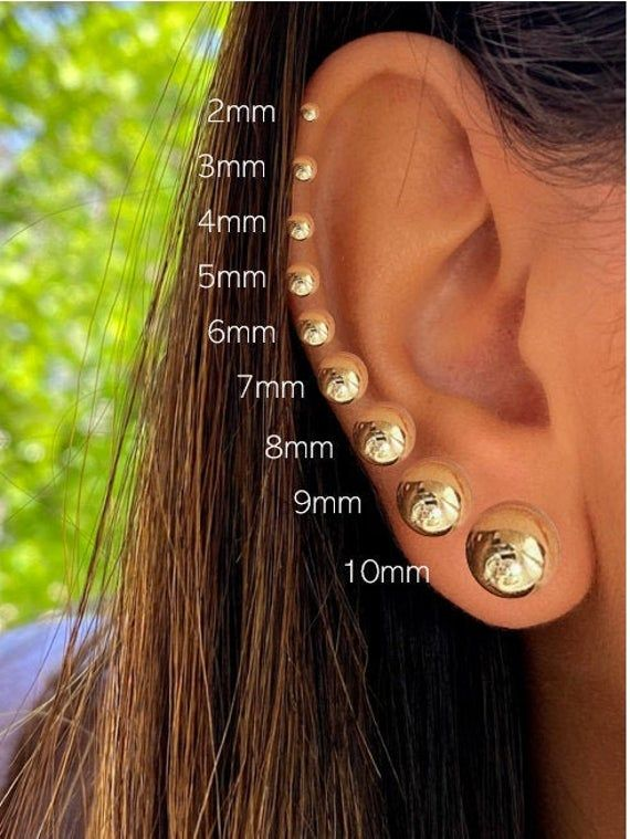 Details about  /14k Yellow or White Gold Cluster Stud Earrings with Push back