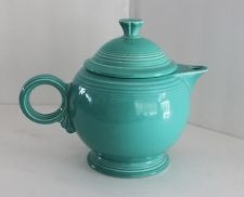 Just Listed FIESTAWARE HOMER LAUGHLIN Teal Tea Pot with Lid Rounded Handle