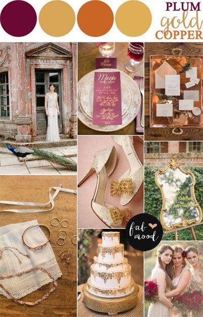 Plum copper and antique wedding for autumn wedding   fabmood.com