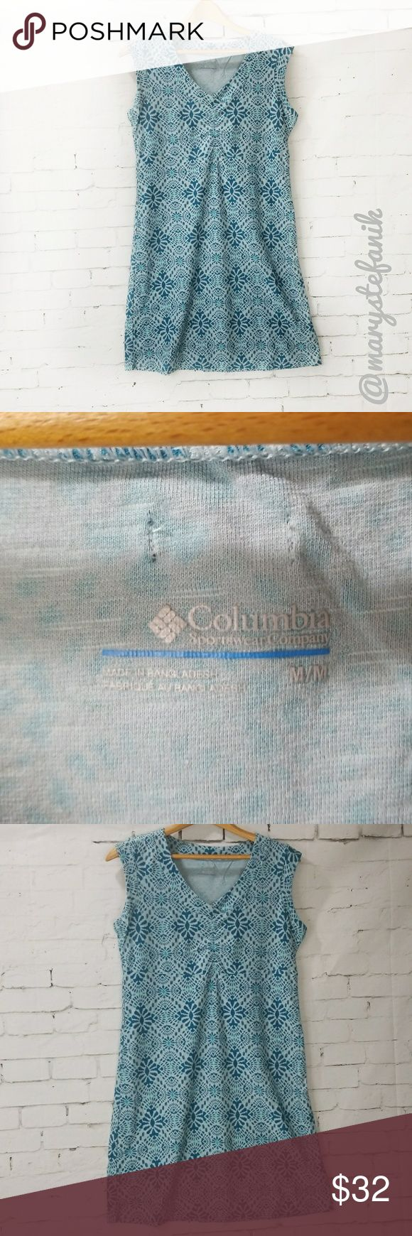 Columbia Blue Exercise Sport Dress size M Columbia Blue Exercise Sport Dress size M in excellent used condition. Fun print!  Please let me know if you have any questions. Happy Poshing! Columbia Dresses Midi