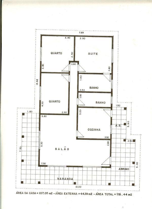 Planta de casa 70 metros pesquisa google casa da for Piscinas pequenas medidas