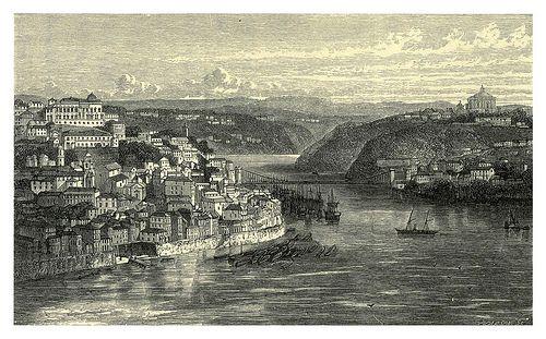007-El puente suspendido entre Oporto y Villanueva de Gaia-Fair Lusitania -1874