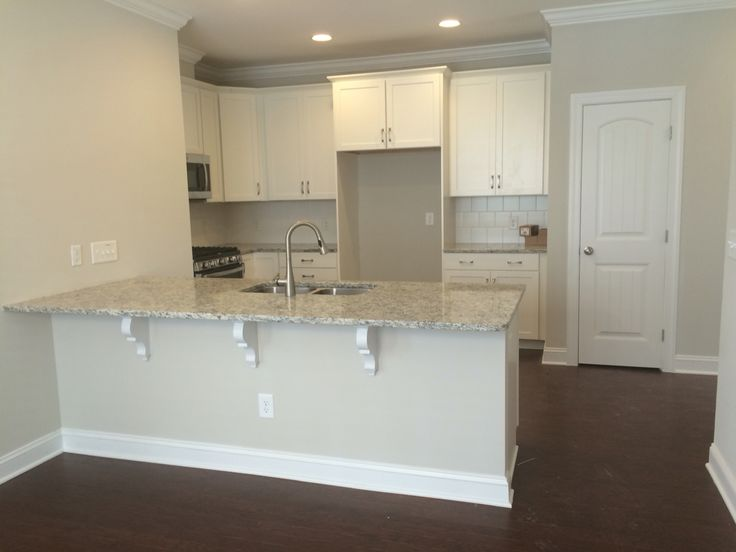 Completed Kitchen Timberlake Sonoma Painted Linen Cabinets With 6in Square Arctic White Tile