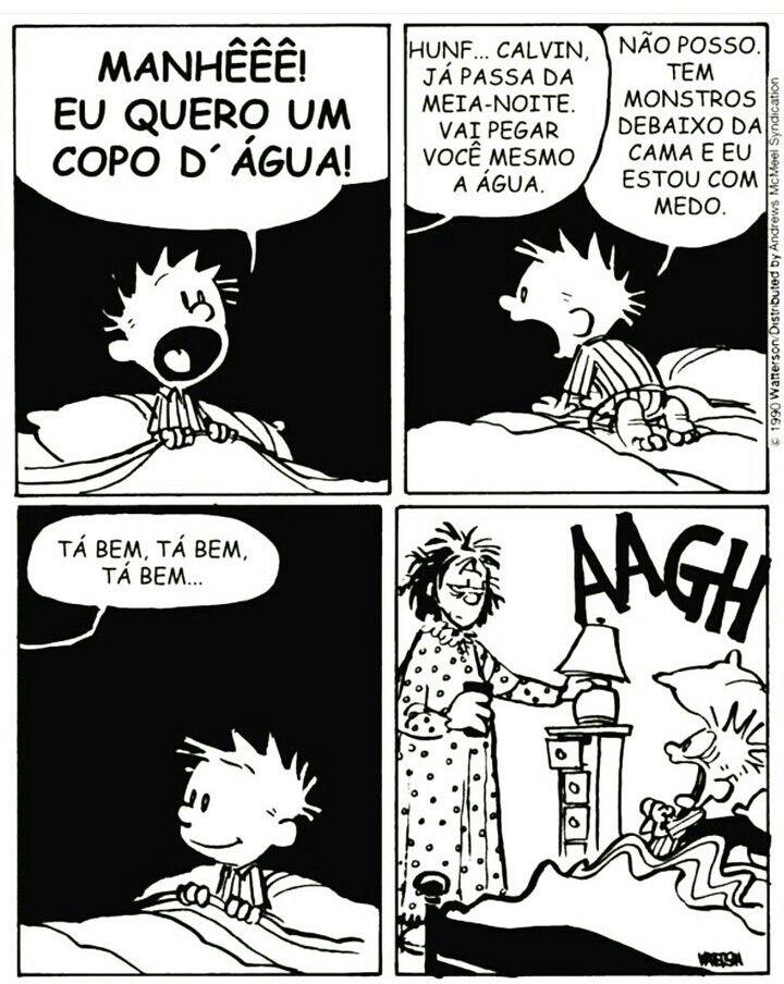 Pin de #Do lado de cá em Charges | Calvin e haroldo, Calvin e hobbes,  Tirinhas em quadrinhos