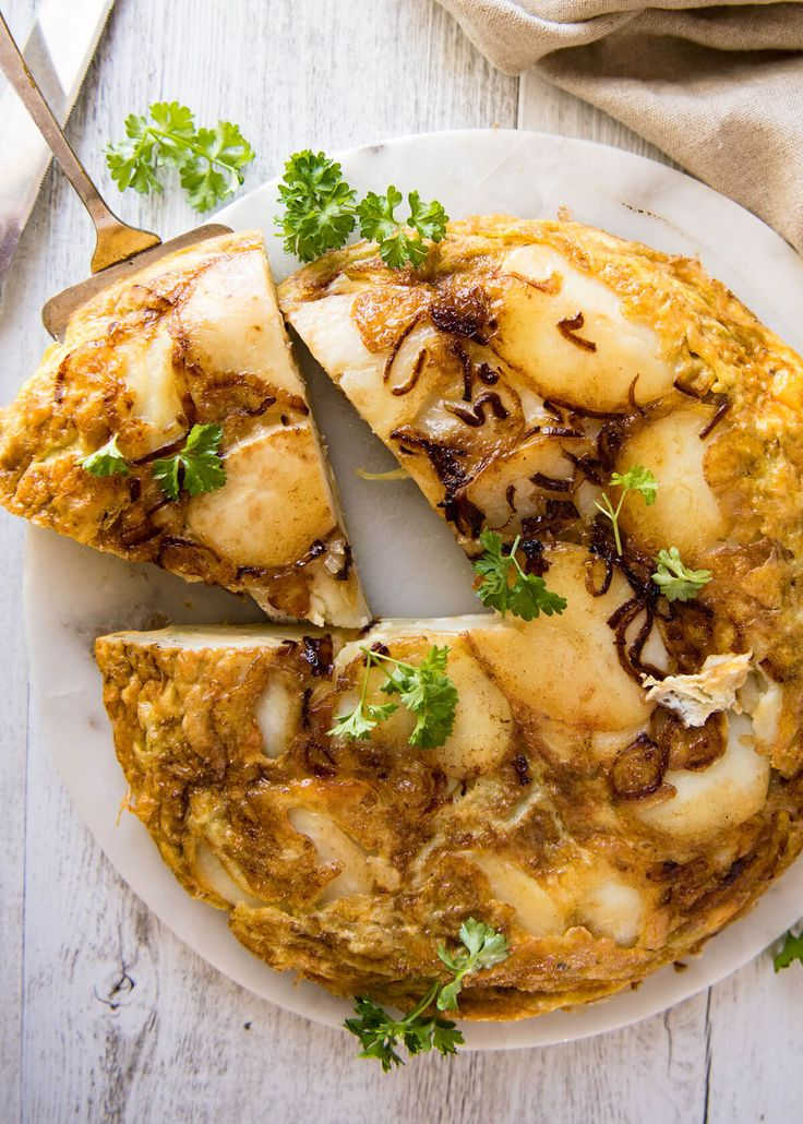 One of the greatest omelettes in the world, the Spanish Tortilla is an omelette made with just potatoes, onion, olive and eggs. The potatoes are so creamy!
