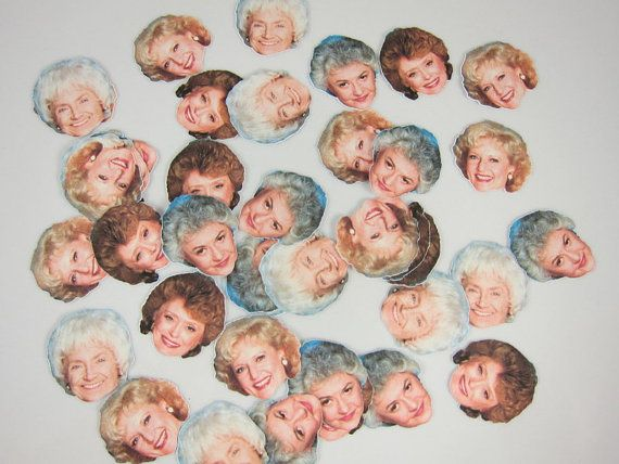 This listing is for 35 Assorted Pieces of Golden Girls confetti; Rose, Blanche, Dorothy, and Sophia. Golden Girls ,Golden Girls Confetti, Dorothy, Blanche,Rose,Sophia, Golden Girls Party We can create matching, banner, cupcake toppers, cupcake wrappers, cards, favor boxes, tags, gift bags, etc! NOTE: CHECK YOUR SHIPPING ADDRESS: Please, verify shipping address. Make sure your address is correct before completing payment. We are not responsible for orders lost due to shipping errors. plea...