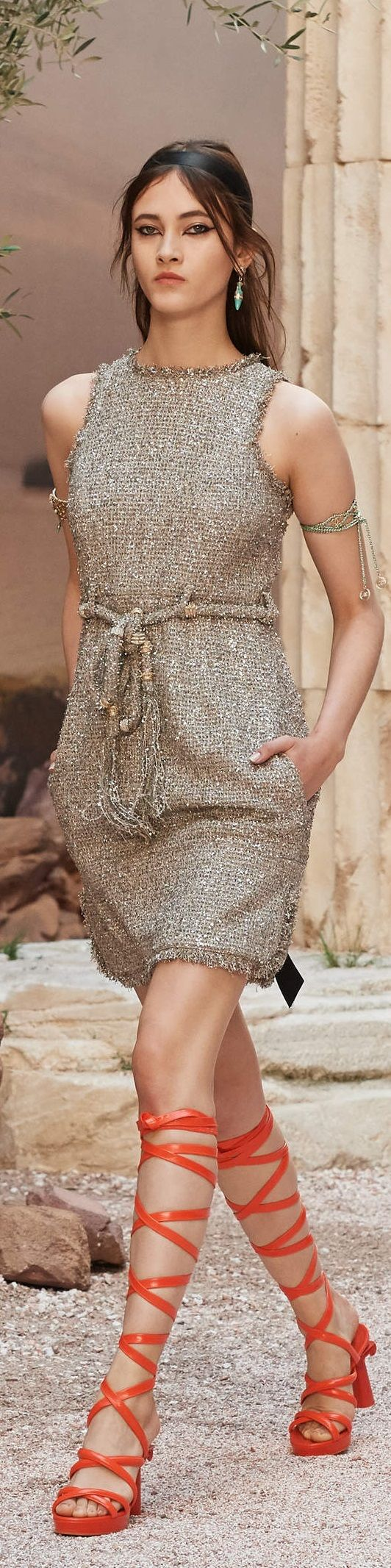 "Chanel Cruise 2018 at the Grand Palais in Paris, ""The Modernity of Antiquity"" inspired by Greece  chanel.com"