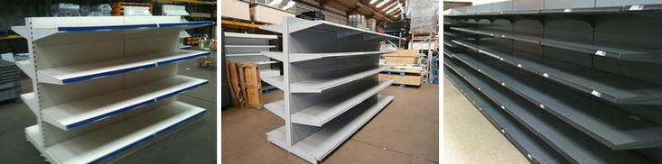 used gondola shop shelving