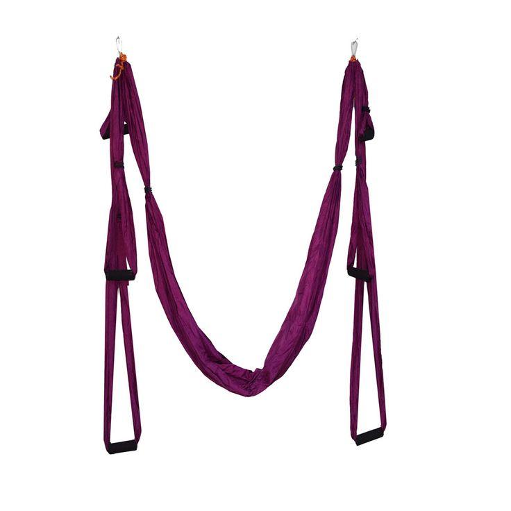 Alta Resistencia Anti-gravedad Yoga Fitness Training Colgando del Cinturón de Nylon de Paracaídas Hamaca Columpio para Estiramiento de Yoga Aérea Guita(China (Mainland))