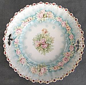 Vintage Confetti and Roses Serving Plate