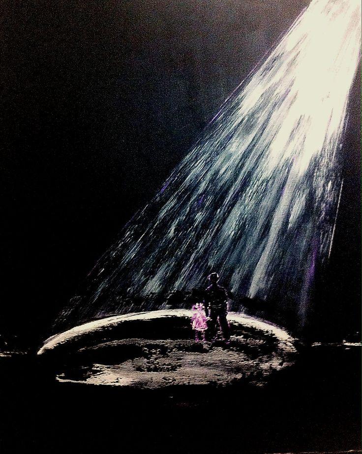 """""""За темнотой придет сиянье света"""", 80Х60, холст на картоне, акрил, 2014, художник Юлия Ерохина"""
