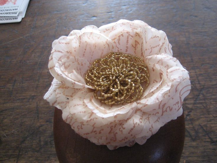 Flower and bead hairpiece