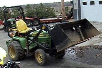 Modified John Deere 318 garden tractor -  The Bird