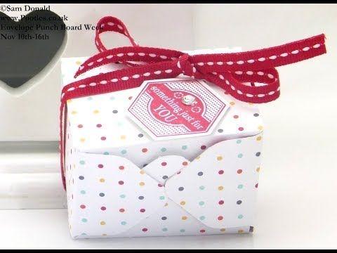 ▶ Stampin Up UK ENVELOPE PUNCH BOARD WEEK Mini Gift Box - YouTube