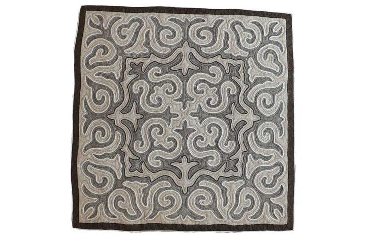 Jygyt, handmade shyrdak felt carpet.
