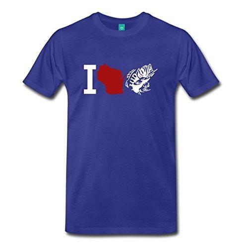 I Love Wi Fishinger Men'S Premium T-Shirt Printed Men T Shirt Short Sleeve Funny Tee Shirts Funny Gray Style